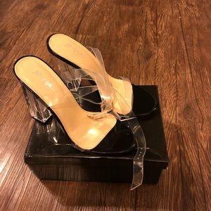 Nasty gal clear heel